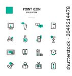 various point color icon... | Shutterstock .eps vector #2049214478