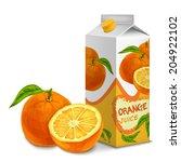 juice carton cardboard box pack ... | Shutterstock . vector #204922102