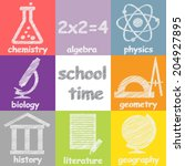 set of art and education icons | Shutterstock .eps vector #204927895