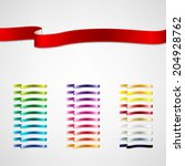 colorful ribbons set | Shutterstock .eps vector #204928762