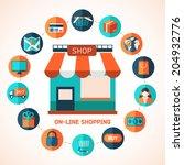 on line shopping infographic... | Shutterstock .eps vector #204932776