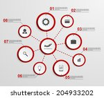 abstract infographic design...