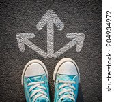 male sneakers on the asphalt... | Shutterstock . vector #204934972