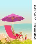 summer holiday  travel advert... | Shutterstock . vector #204937345