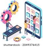 development of mobile...   Shutterstock .eps vector #2049376415