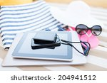 beach  summer  vacation and... | Shutterstock . vector #204941512