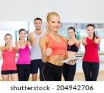 sport  exercise  technology ... | Shutterstock . vector #204942706