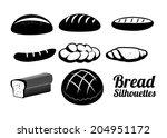 bakery design over white... | Shutterstock .eps vector #204951172
