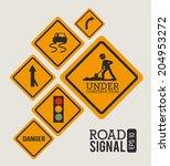 advert design over beige... | Shutterstock .eps vector #204953272