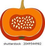 vector illustration with orange ...   Shutterstock .eps vector #2049544982