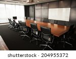 business meeting room or board... | Shutterstock . vector #204955372