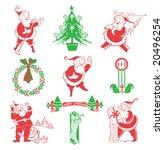 vintage santa   christmas...   Shutterstock .eps vector #20496254
