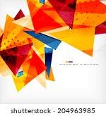modern 3d glossy overlapping... | Shutterstock . vector #204963985