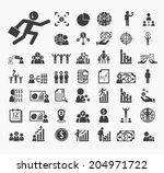 human resource icons vector set | Shutterstock .eps vector #204971722