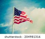 vintage retro looking flag of... | Shutterstock . vector #204981316