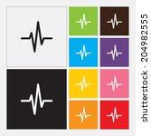 heart beat cardiogram icon in... | Shutterstock .eps vector #204982555