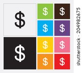 dollars sign icon   vector | Shutterstock .eps vector #204982675