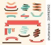 ribbon banner set vector design ... | Shutterstock .eps vector #204983902