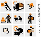 delivery vector icons set on...