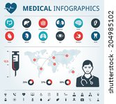 medical human organs icon set... | Shutterstock .eps vector #204985102
