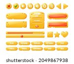 cheese game ui buttons  cartoon ...