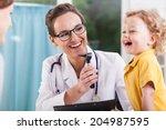 happy little boy after health... | Shutterstock . vector #204987595