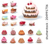 set with different birthday... | Shutterstock .eps vector #204991756
