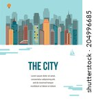 The City   Vector Background...