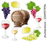 wine stickers elements  | Shutterstock . vector #204997996