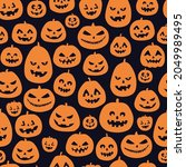 halloween seamless pattern.... | Shutterstock .eps vector #2049989495
