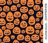 halloween seamless pattern.... | Shutterstock . vector #2049989498