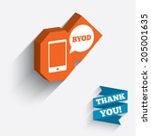byod sign icon. bring your own... | Shutterstock .eps vector #205001635