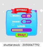 game ui settings popup window...