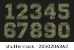 vector camouflage military... | Shutterstock .eps vector #2050206362