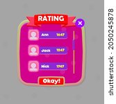 game ui  rating chart users pop ...