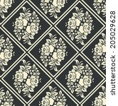 seamless pattern with beautiful ... | Shutterstock .eps vector #205029628