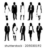 collection of people... | Shutterstock .eps vector #205030192