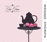tea time | Shutterstock .eps vector #205032646