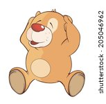 a stuffed toy bear cub cartoon  | Shutterstock . vector #205046962