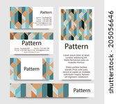 3d business cards pattern with... | Shutterstock .eps vector #205056646