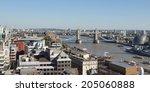 tower bridge on river thames... | Shutterstock . vector #205060888
