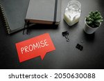 promise written on speech... | Shutterstock . vector #2050630088