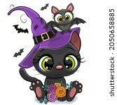 cute halloween illustration of...   Shutterstock .eps vector #2050658885