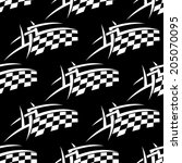 seamless pattern of a black and ... | Shutterstock .eps vector #205070095