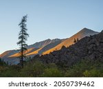 Evening Mountain Landscape With ...
