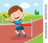 achieve,activity,amazing,athlete,boy,boy runner,boy running,boy vector,cartoon,cartoon boy,character,child,competition,cross finish line,crossing