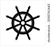 steering wheel captain boat... | Shutterstock .eps vector #2050761665