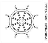 steering wheel captain boat... | Shutterstock .eps vector #2050761668