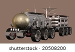 Mars landtrain third variant - stock photo