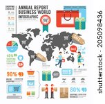 infographic annual report... | Shutterstock .eps vector #205098436